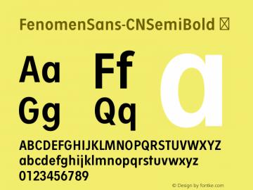 FenomenSans-CNSemiBold