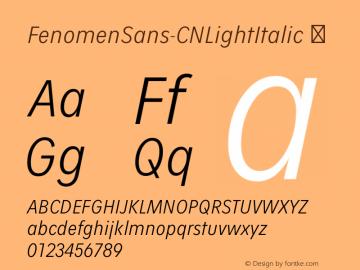 FenomenSans-CNLightItalic