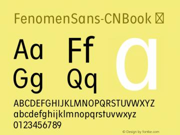 FenomenSans-CNBook