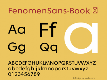 FenomenSans-Book