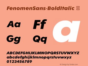 FenomenSans-BoldItalic
