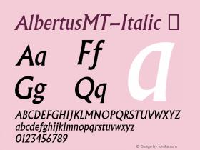 AlbertusMT-Italic