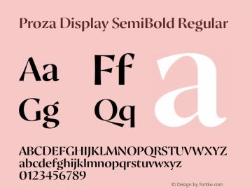 Proza Display SemiBold
