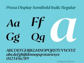 Proza Display SemiBold Italic