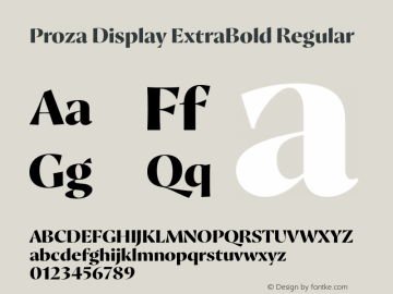 Proza Display ExtraBold