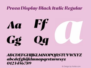 Proza Display Black Italic