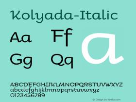 Kolyada-Italic