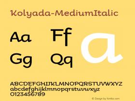 Kolyada-MediumItalic