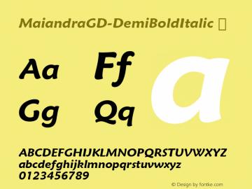 MaiandraGD-DemiBoldItalic