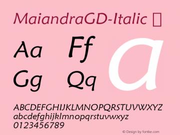MaiandraGD-Italic