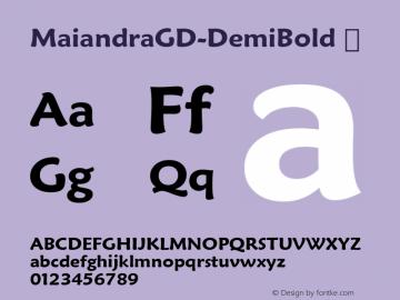 MaiandraGD-DemiBold