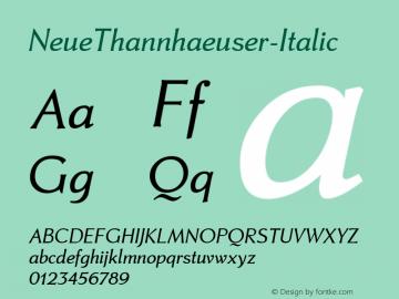 NeueThannhaeuser-Italic