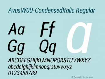 Avus-CondensedItalic