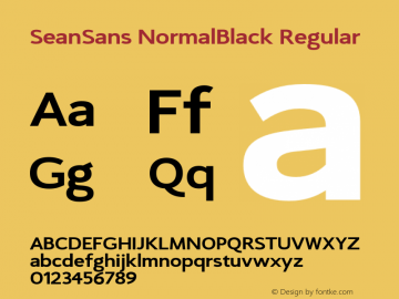 SeanSans NormalBlack