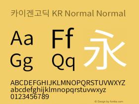 카이겐고딕 KR Normal