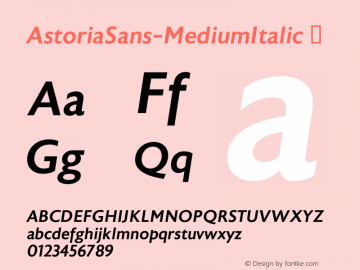 AstoriaSans-MediumItalic