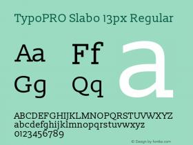 TypoPRO Slabo 13px