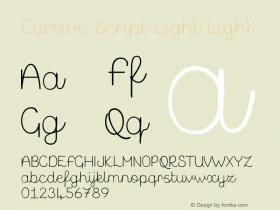 Cursive Script Light