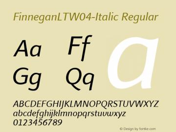 FinneganLT-Italic