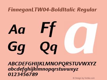 FinneganLT-BoldItalic