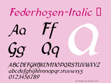 Federhozen-Italic