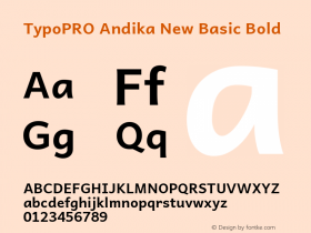 TypoPRO Andika New Basic