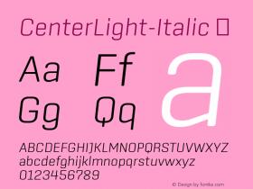 CenterLight-Italic