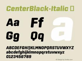 CenterBlack-Italic
