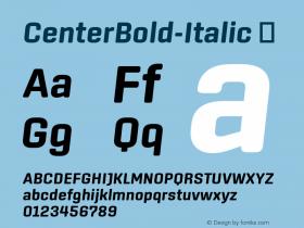 CenterBold-Italic