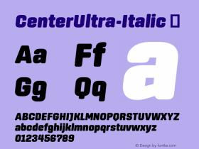 CenterUltra-Italic