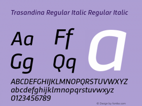 Trasandina Regular Italic