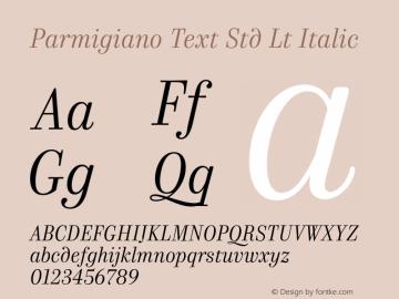 Parmigiano Text Std Lt