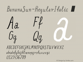 BananaSun-RegularItalic