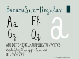 BananaSun-Regular