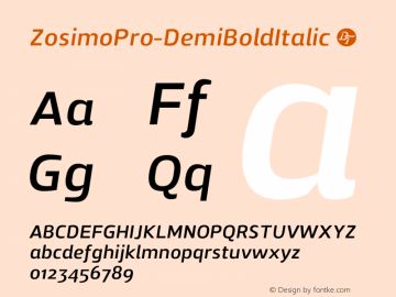 ZosimoPro-DemiBoldItalic