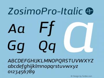 ZosimoPro-Italic