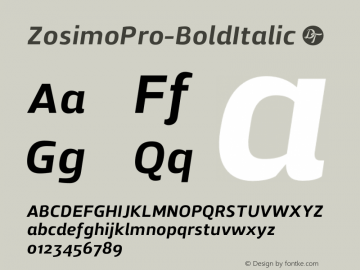 ZosimoPro-BoldItalic