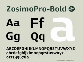 ZosimoPro-Bold