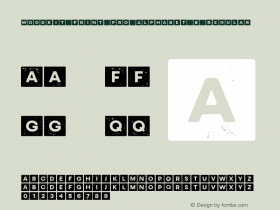 Woodkit Print Pro Alphabet B