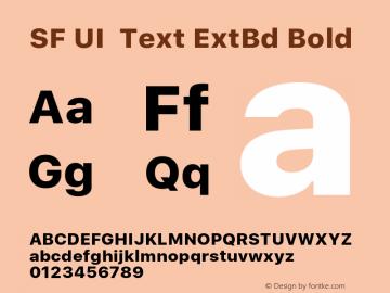 SF UI Text ExtBd