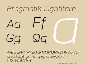 Pragmatik-LightItalic
