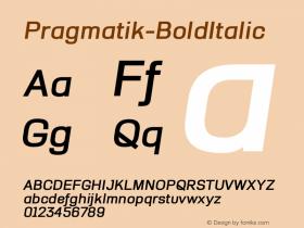 Pragmatik-BoldItalic