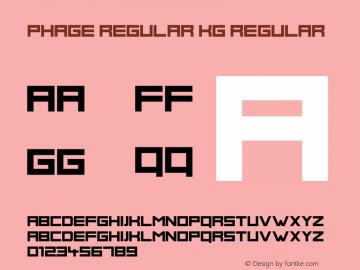 Phage Regular KG