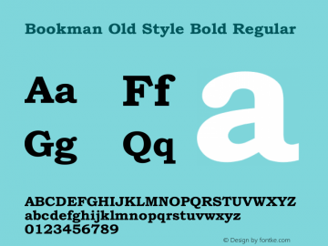 Bookman Old Style Bold