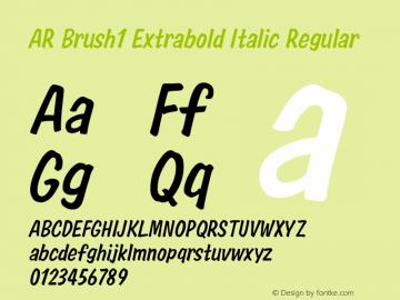 AR Brush1 Extrabold Italic
