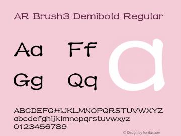 AR Brush3 Demibold