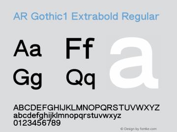 AR Gothic1 Extrabold