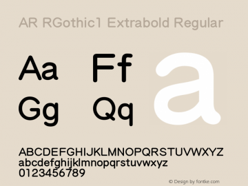 AR RGothic1 Extrabold
