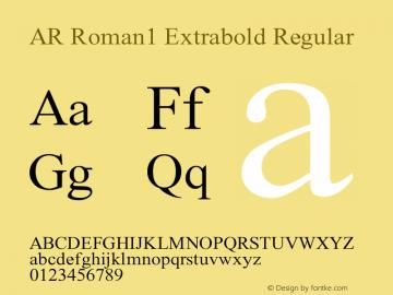 AR Roman1 Extrabold