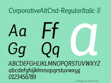 CorporativeAltCnd-RegularItalic